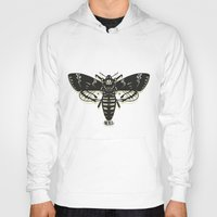 moth Hoodies featuring Moth by Nick Rissmeyer