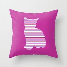 Kitten Stripes Throw Pillow