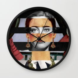Frida Kahlo's Self Portrait Time Flies & Joan Crawford Wall Clock