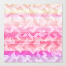 Geometric Sunset Canvas Print