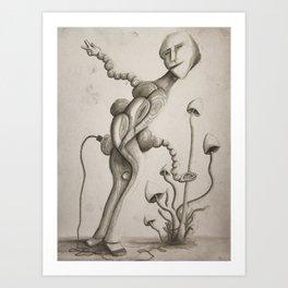 Electric Monkey Art Print