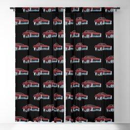 Classic American Muscle Car Cartoon Blackout Curtain