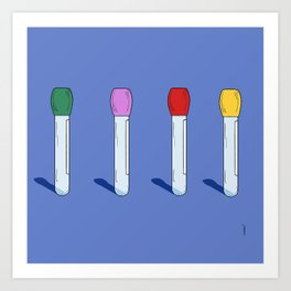 Know Your Test Tubes Art Print