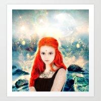 Magic Girl Art Print