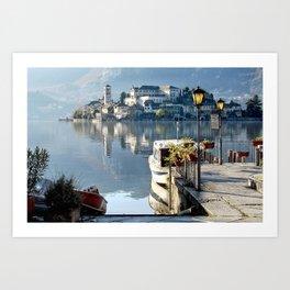 Orta Lake - San Giulio Island Art Print