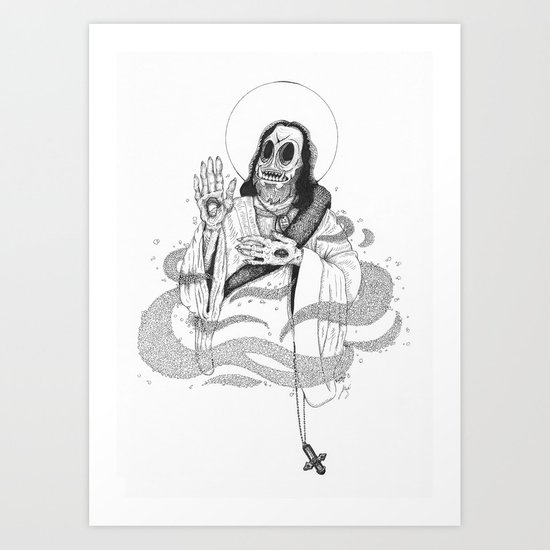 Jesus Frankenstein Art Print