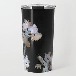 Tropical Palms On Black Background Travel Mug