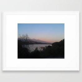The Eerie Lake Framed Art Print