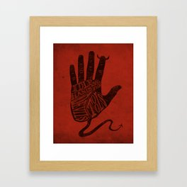 Idle Hands Framed Art Print