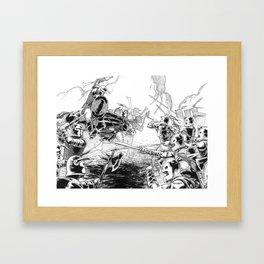 The Battle Begins Framed Art Print