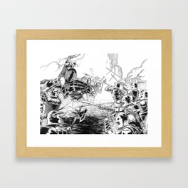 The Battle Begins Framed Art Print