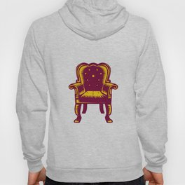 Baroque Grand Arm Chair Woodcut Hoody
