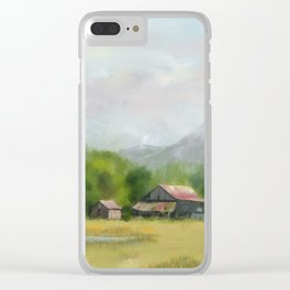 Retired Tractor on the Farm Clear iPhone Case