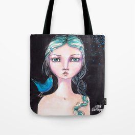 Blue Bird by Jane Davenport Tote Bag