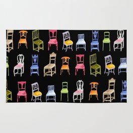 Swedish Wooden Chairs Rug