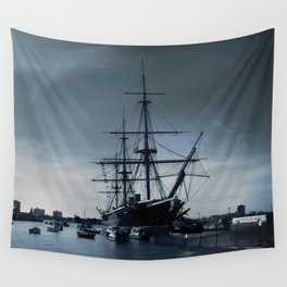 Ship The Warrior HMS 1860 Wall Tapestry