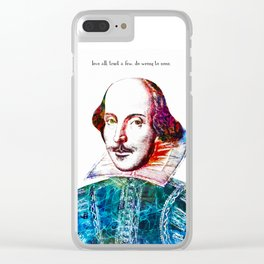 Graffitied Shakespeare Clear iPhone Case