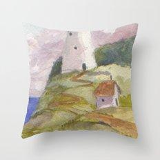 Peaceful Lighthouse II Throw Pillow