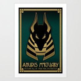 Anubis Mortuary Art Print