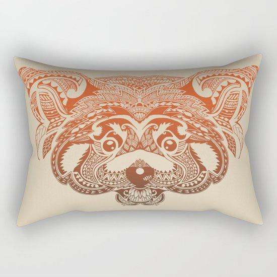 Polynesian Red Panda Rectangular Pillow