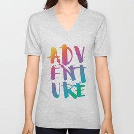 adventure - rainbow Unisex V-Neck
