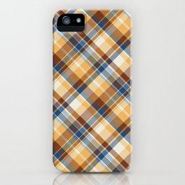Brown Gingham Pattern iPhone Case