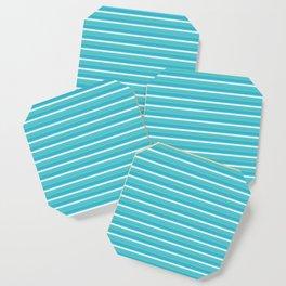 Lemoncello Striped Coaster