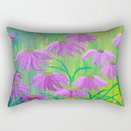 Purple Cone Flower (Echinacea) Rectangular Pillow