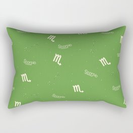 Scorpio Pattern - Green Rectangular Pillow