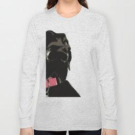 Black Great Dane Dog Long Sleeve T-shirt
