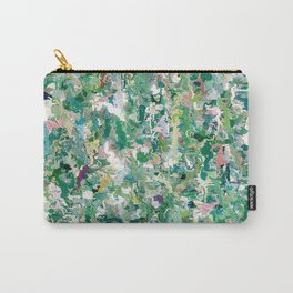Abstract Green & Blue Carry-All Pouch