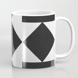 Black & White Tile Pattern Coffee Mug