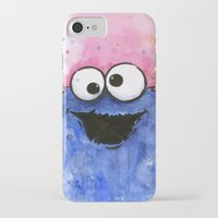 cookie monster iPhone & iPod Cases featuring Cookie Monster by Olechka