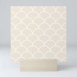 Scales - neutral Mini Art Print