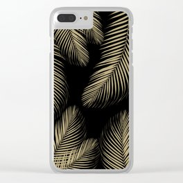 Palm Leaves - Gold Cali Vibes #4 #tropical #decor #art #society6 Clear iPhone Case