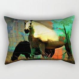 Grazing Horses in Texas Rectangular Pillow