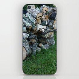 Woodpile iPhone Skin