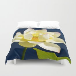 Lotus Flower by Teresa Thompson Duvet Cover