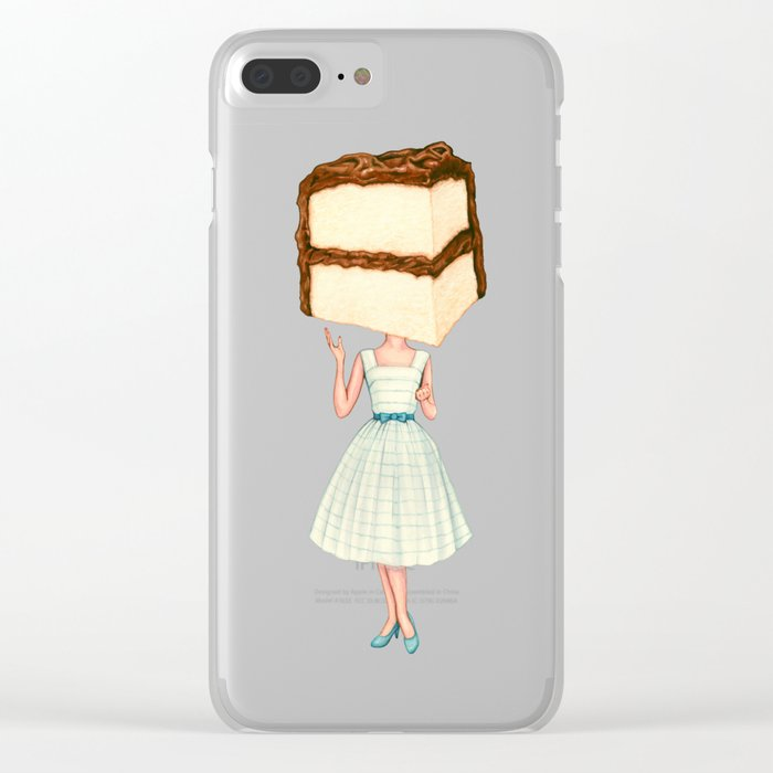 Cake Head Pin-Up - Chocolate Clear iPhone Case