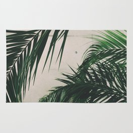 Tropical Palm Leaves Rug