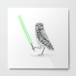 Jedi Owl SkywOwlker Metal Print