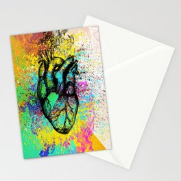 Heart in outflow Stationery Cards