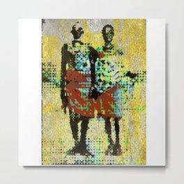 Aged couple Metal Print