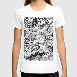 Yellow Bear Comicz Cartoon World T-Shirt