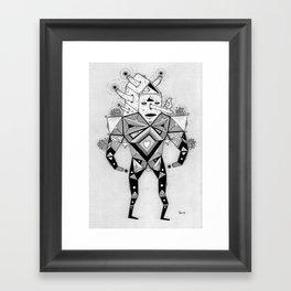 birdhouse head Framed Art Print