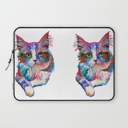 Cat with green eyes Laptop Sleeve