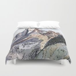 Machhapuchhre Mountain Duvet Cover