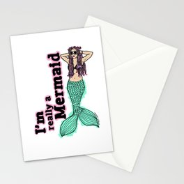 I'm Really A Mermaid  Stationery Cards