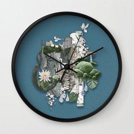 Nangijala –Blue Wall Clock