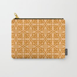 Ethnic tile pattern orange Carry-All Pouch